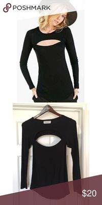 Black Project Social T cut out T Black Project Social T long sleeved cut out t shirt. Super soft and flattering. Worn a handful of times and in great condition. Project Social T Tops Tees - Long Sleeve