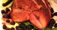 This is the ham I make every year. Blackberry and Mustard Glazed Ham - The Cottage Mama