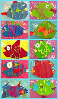This art project was a huge success with my Kinder students. If you have some extra corrugated cardboard, try creating this cardboard fish or owl project.