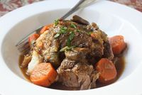 Food Wishes Video Recipes: Classic Slow Cooker Beef Pot Roast - so delicious! the veggie mix (including mushrooms!) is so tasty