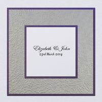 Layered Embossed Garden Square Invitation Folded 145mm in Regal - DreamDay Invitations
