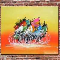 Hand-painted On Canvas Athletics Abstract Oil Painting