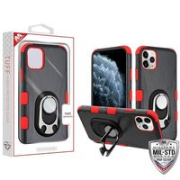Black/Red TUFF Hybrid phone case with ring holder for iPhone 11 Pro $27.48
