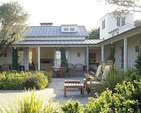 Love this courtyard. Metal Roof. Walker Warner Architects, Sonoma, outdoor living