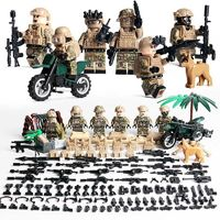 US Navy Seal Desert Warfare 6-Pack with Dog Bike & Weapons $22.90