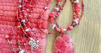 Bold BOHO Red & Stunning Silver Red Imperial Jasper by BohoStyleMe