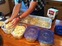 Storing the chicken and rice dog food recipe