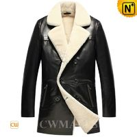 Mens Shearling Double-breasted Coat CW857159