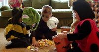 """It's every child's favorite part about Halloween �€"""" trick or treat! Safety tips from"""