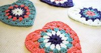 How to: Crochet Heart Shaped Grannies, just stunning, thanks so xox