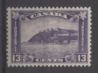 A Beautiful Mint 13c Stamp of Canada From 1932 Showing the Old Quebec Citadel