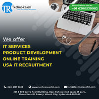 TechnoReach IT Solutions specializes in Software Online Training Courses, Digital Marketing Services, USA IT Staffing & Product Development Professional Services Company.