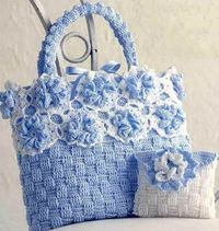 crocheted bags, crochet and bags.