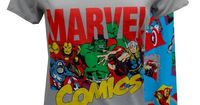 Marvel Comics Avengers Cast Pajama Set Calling all superheroes...these are the jammies you have been waiting for! This pajama features the Marvel Comics Avengers cast on a grey v-neck top. The pant has a wide waistband with a drawstring tie. Pants are cap...
