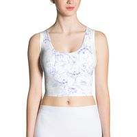 Floral Sublimation Cut & Sew Crop Top $25.00