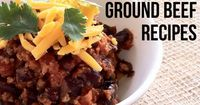 Save money by buying ground beef in 3 lb packs and then use it to make these recipes. Love all of these recipes!