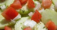 Cucumber Salad...YUM! I also put in a couple of splashes of cider vinegar. Good stuff.