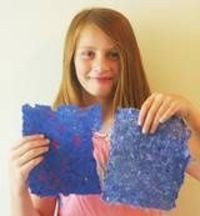 Make beautiful paper from recycled scraps. This is a fun craft that teaches about recycling while making a useful handmade product.
