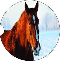 2 Absorbent Car Coasters of Horses #6. Car Accessories for her, Auto Coaster, Coaster, Cup Holder Coaster, Gift For Her, For Him $14.00