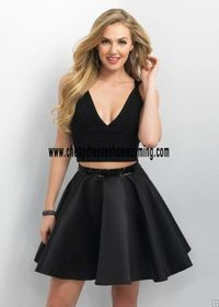 Blush 11150 Black Two Piece Homecoming Dress 2016 For Cheap