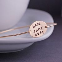 I know. ;) Gift for Aunt Gold Best Aunt Ever Bracelet Aunt by georgiedesigns, $40.00