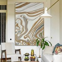 Gold Abstract acrylic painting on canvas Original extra Large Wall Art Pictures for living room Home Decor Hand Painted $79.00