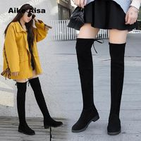 Winter Over The Knee Boots Women Stretch Fabric Thigh High Sexy Woman
