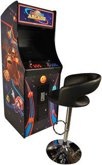100% BRAND NEW! Enjoy all the arcade classics on this beautiful upright arcade! With this home arcade, you'll love playing the authentic side-by-side style over and over again! Beautiful Artwork! Highest Quality Joysticks and Buttons! Play Pacma...