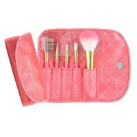 Jacki Design Vintage Allure 5 Pc Make Up Brush Set And Bag, Coral @The Lavender Lilac