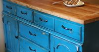 Cool way to re use an old dresser for the kitchen.