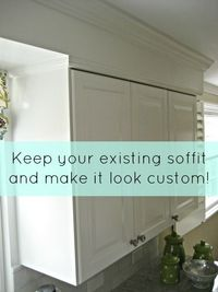 How to keep your existing kitchen soffit and make it look custom.