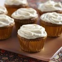 Pumpkin Cupcakes... made these today with gluten free flour and they are so yummy!