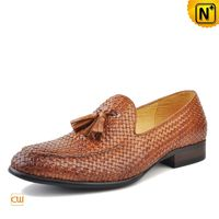 Cwmalls Mens Leather Dress Loafers with Tassel CW750059