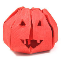 How to make an origami jack-o-lantern for Halloween  http://www.origami-make.org/howto-origami-halloween.php