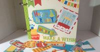 6 inch x 6 inch Birthday Mini Album by ThePickleSisters on Etsy