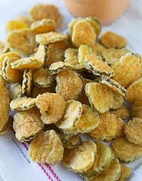 Fried Pickles- I've had these at a restaurant before and they are SO DELICIOUS!!!