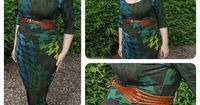 love Teach Sew // combined Ruched maternity T pattern and Ruched maternity skirt pattern