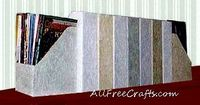 Embellish old magazine holders with textured paper. http://www.allfreecrafts.com/paper-crafts/organizers/magazine-holders/