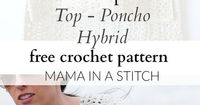The �€œTopcho�€ Easy Crochet Shirt Pattern via
