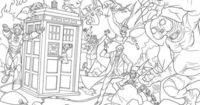 Doctor Who coloring pages.... if anyone needs me I'll be in my blanket fort TARDIS coloring these.......