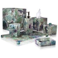 Taj Fluorite Bath Accessories by Mike + Ally $500.00