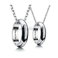 Engraved Matching Rings Necklaces for Couples Christmas Gift https://www.gullei.com/engravable-matching-necklaces-for-couples-christmas-gift.html