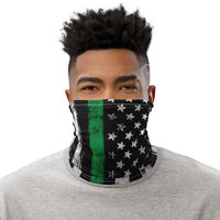 Thin Green Line American Flag Face Mask Neck Gaiter Face Mask Cover, Men and Women, Unisex 12 in 1 Multi-functional Scarf cover $17.95