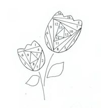 Iris paper folding templates - possibly use these patterns for paper piecing? Would need to assemble in reverse order.