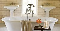 """Make your master bath a relaxing retreat with decorating and design ideas from our experts. Bath décor doesn't have to be all about function�€""""beautiful form is a"""