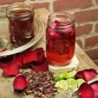 hibiscus rose infusion 1 (750-mL) bottle Vodka 1 oz (about 2.5 cups) Dried hibiscus flowers 1 oz (about 2.5 cups) Dried rose petals 1 tbsp Dried tarragon 8 oz Simple syrup (one part sugar, one part water) Stir to moisten th...