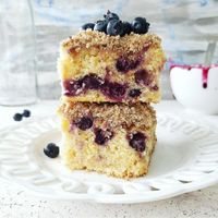 Blueberry Coffee Cake with Sour Cream