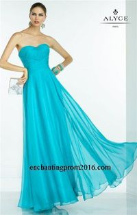 Strapless Ruched Alyce BDazzle 35780 Chiffon Long Prom Dresses