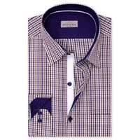 Create a stylish look with this Oxford Men Red and White Check dress shirt. Woven in Egyptian cotton this check shirt has a fine finish.  �€� 100% Superfine Egyptian Cotton  �€� Classic collar  �€� French cuff  �€� Oxfo...