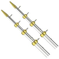 Tigress 18 Heavy-Duty Outrigger Poles - 1-1-2 O.D. - Silver-Gold $894.99